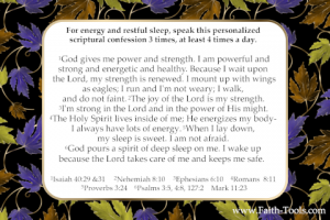 Scriptures on Sleep and Energy